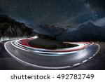 Light Trails On A Hairpin Bend...