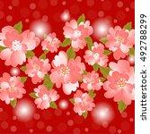 invitation or wedding card... | Shutterstock .eps vector #492788299