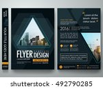 brochure design template vector.... | Shutterstock .eps vector #492790285