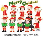 the christmas concert of... | Shutterstock .eps vector #492794521