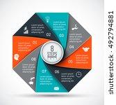 vector octagon infographic.... | Shutterstock .eps vector #492794881