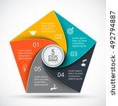 vector pentagon infographic.... | Shutterstock .eps vector #492794887