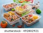 assortments of spicy tuna  tofu ...   Shutterstock . vector #492802921