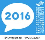 2016 message icon with bonus... | Shutterstock .eps vector #492803284