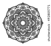 mandala design. hand drawn... | Shutterstock .eps vector #492805771