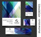 abstract business set.... | Shutterstock .eps vector #492809401