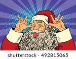 santa claus tease  good sense... | Shutterstock .eps vector #492815065