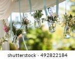 flower decoration wedding | Shutterstock . vector #492822184