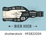 bottle of beer with hand drawn... | Shutterstock . vector #492823204