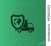 cargo insurance stock vector... | Shutterstock .eps vector #492823321