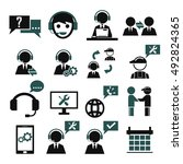 support  service icon set | Shutterstock .eps vector #492824365