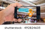 augmented reality application... | Shutterstock . vector #492824635