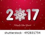 vector happy new year 2017... | Shutterstock .eps vector #492831754