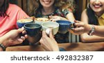diversity women socialize unity ... | Shutterstock . vector #492832387