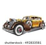 vintage car | Shutterstock .eps vector #492833581
