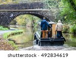 Couple On The Narrowboat In...