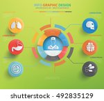 healthy care and medical info... | Shutterstock .eps vector #492835129