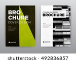 abstract annual report brochure ... | Shutterstock . vector #492836857