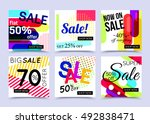 collection of sale website... | Shutterstock .eps vector #492838471