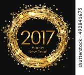 vector 2017 happy new year... | Shutterstock .eps vector #492841675