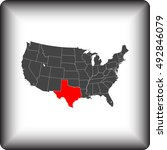 map of texas | Shutterstock .eps vector #492846079