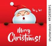 ho ho ho  merry christmas  | Shutterstock .eps vector #492850891