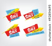 set vector banners for super... | Shutterstock .eps vector #492854695