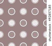 tiled seamless geometric... | Shutterstock .eps vector #492857185