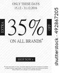 vector promotional extra 35... | Shutterstock .eps vector #492867205