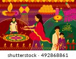 vector illustration of indian...   Shutterstock .eps vector #492868861