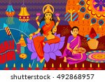 vector illustration of indian... | Shutterstock .eps vector #492868957
