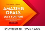 amazing deals sale offer banner   Shutterstock .eps vector #492871201