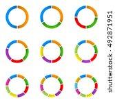 circular diagram set. pie chart ...   Shutterstock .eps vector #492871951