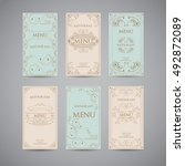 set of vintage luxury greeting... | Shutterstock .eps vector #492872089