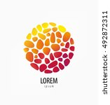 logo mosaic in the circle | Shutterstock .eps vector #492872311