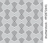 vector seamless pattern.... | Shutterstock .eps vector #492872641