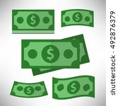 cash icon with dollar sign. | Shutterstock .eps vector #492876379