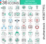 vector network technology... | Shutterstock .eps vector #492877951