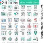 vector media advertising modern ... | Shutterstock .eps vector #492878395