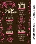 coffee menu placemat food... | Shutterstock .eps vector #492884101