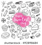 happy sweetest day. greeting... | Shutterstock .eps vector #492898684