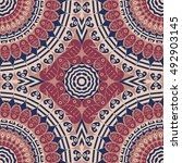 colorful ethnic patterned... | Shutterstock . vector #492903145