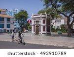 mindelo  cape verde   march 01  ... | Shutterstock . vector #492910789