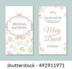 wedding set. romantic vector... | Shutterstock .eps vector #492911971