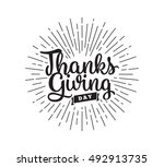 thanksgiving day typographic... | Shutterstock .eps vector #492913735