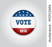 badge vote. us presidential... | Shutterstock . vector #492915604