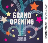 grand opening vector... | Shutterstock .eps vector #492918769