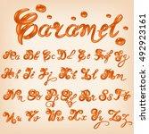 vector melted caramel  candies...   Shutterstock .eps vector #492923161