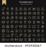 set vector line icons in flat... | Shutterstock .eps vector #492930067