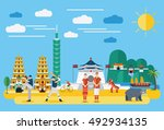 flat design  illustration of... | Shutterstock .eps vector #492934135